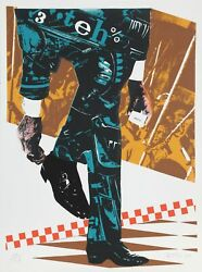 Gianni Bertini Senza Titolo Screenprint Signed And Numbered In Pencil