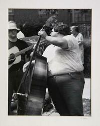 Theodore Cohen Street Band Upright Bass Gelatin Silver Print Signed