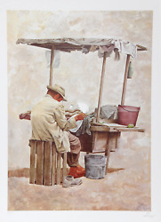 Vic Herman The Store Keeper From Guadalajara Lithograph Signed And Numbered I