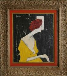 G. Taylor, Woman Looking Out A Window, Oil On Canvas, Signed U.l.