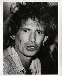Rita Barros, Keith Richards At The Chelsea Hotel, Gelatin Silver Print, Signed A