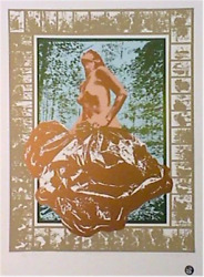 Cindy Wolsfeld, Lady With The Golden Bag, Lithograph, Signed And Numbered In Pen