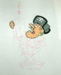 Jay Ward, Untitled - Cap'n Crunch Pirate 15, Acetate Cel And Pencil Drawing