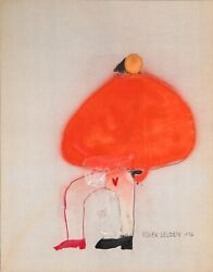 Roger Selden, Untitled 4, Ink And Acrylic On Paper, Signed And Dated L.r.