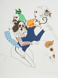 Ramon Santiago Untitled - Merry Go Round 50 Lithograph Signed In Pencil