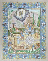 Unknown Iranian Persian Theme Painting 3 Gouache On Board