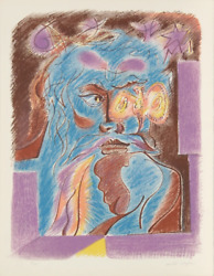 Andre Masson Satan From Je Reve Portfolio Lithograph On Arches Signed And Num