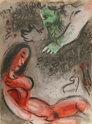 Marc Chagall God Rebukes Eve From Drawings For The Bible Lithograph