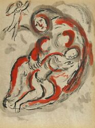 Marc Chagall Hagar In The Desert From Drawings For The Bible Lithograph