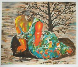 Sandro Chia, Seated Woman, Lithograph, Signed And Numbered In Pencil