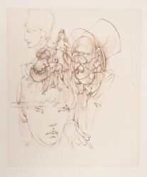 Hans Bellmer Alice And The Mad Hatter Etching Signed And Numbered In Pencil
