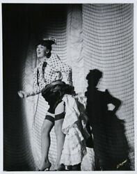 Lucien Aigner Gypsy Rose Lee Gelatin Silver Print Signed In Ink