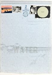 Joe Tilson, Water, Screenprint And Collage On Rice Paper, Signed And Numbered In