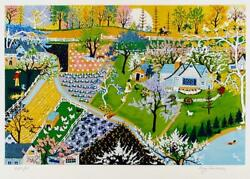 Kay Ameche, Spring Fever, Screenprint, Signed And Numbered In Pencil