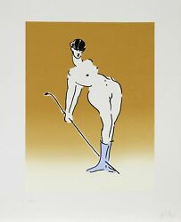 Peter Max Nude With Crop Screenprint Signed And Numbered In Pencil