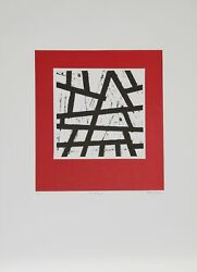 Richard A. Heinrich, The Red Temple, Screenprint, Signed And Numbered In Pencil