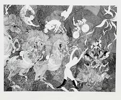 Guillaume Azoulay Le Grand Cirque Lithograph Signed And Numbered In Pencil