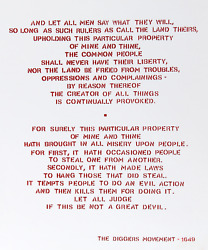 Andrew Castrucci Diggers Manifesto 1649 From Bullet Space Your House Is Mine
