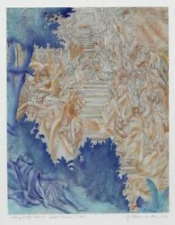 Guillaume Azoulay, Jacob's Dream I, Etching, Signed And Numbered In Pencil