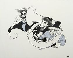 Al Hirschfeld, Marx Brothers Night At The Opera Silver, Lithograph Unsigned