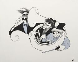 Al Hirschfeld Marx Brothers Night At The Opera Silver Lithograph Unsigned
