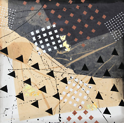 Frank Rowland Untitled I Acrylic And Collage On Paper Signed