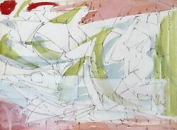 Dimitri Petrov, Untitled - Cubist Abstract, Watercolor And Pencil On Paper, Sign
