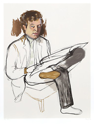 Alice Neel Portrait Of Edward Avedesian Lithograph Signed And Numbered In Pen