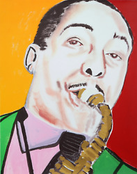 Frederick J. Brown Johnny Hodges Screenprint Signed And Numbered In Pencil