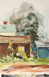 Eve Nethercott Rockport P6.39 Watercolor On Paper