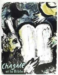 Marc Chagall, Et La Bible, Lithograph In Colors On Thin Wove Paper