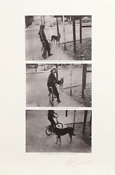 Les Levine The Difference Between.. Girl And Dog Photo-etching Signed And N