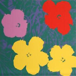 Andy Warhol Flowers 6 Screenprint Sunday B. Morning Stamp Verso