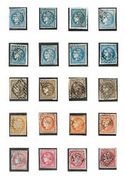 France Exceptionally Fine Collection Of 1870 Bordeaux Imperf Issues 1c - 80c
