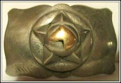 Very Old Lawman Star Badge Style Gold Horsehead Possible Sterling Belt Buckle