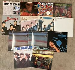 The Beatles + Related Lp Lot - Silver/historic/rare/rock Roll Music Vinyl Record