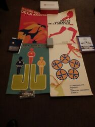 Cuba Lot Of 8 Silkscreen Posters About Sports, 1970s