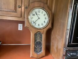 VINTAGE WELBY WALL PENDULUM HANGING CLOCK