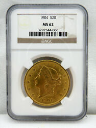 1904 20 Liberty Gold Double Eagle Coin Ms-62 By Ngc