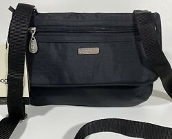 "Baggallini NEW BLACK CROSSBODY 10"" POCKET BAGG ZIP SHOULDER FLAP LIGHTWEIGHT $42.99"
