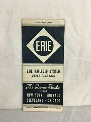 Erie Railroad System Time Table August 1937