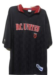 Dc United Jersey Majestic Euc Vintage Mls Rare See Through Made In Usa Xl