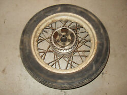 Puch Sears Allstate Ds60 Compact Scooter Rear Wheel - Rim - Brake Hub - Tire