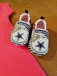 Dallas Cowboys Baby Girl Booties Tailgating Cowboys Girl Booties Only 3-6 Months