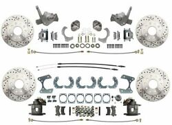 1974-78 Mustang Ii Stock Height Front And Rear High Performance Disc Brake Kit