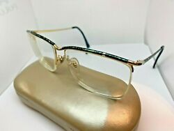 Tura 413 Tea vintage top rim gold Blue Gold eyeglasses frames 60 14 135 $29.65