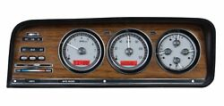 1973-85 Jeep Wagoneer/j-trucks Vhx System Silver Alloy Style Face Red Display