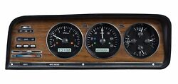 1973-85 Jeep Wagoneer/j-trucks Vhx System Black Alloy Style Face White Display