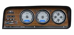 1973-85 Jeep Wagoneer/j-trucks Vhx System Silver Alloy Style Face Blue Display