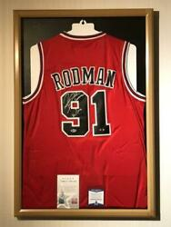 Chicago Bulls Dennis Rodman Official Uniform With Autographed F/s From Japan